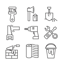 flat tools repair vector image