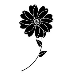 flower with stem icon imag vector image