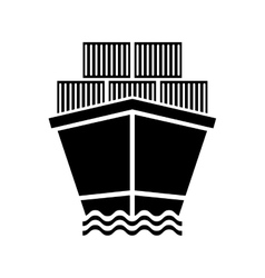 Freigther cargo ship vector image