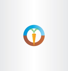 fresh carrot icon logo vector image