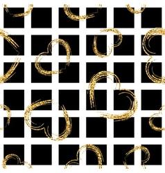 Golden grunge hearts seamless pattern vector