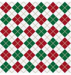 green and red argyle harlequin seamless pattern vector image