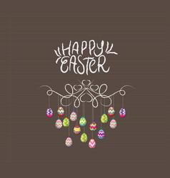 hand draw doodle easter eggs ornament vector image
