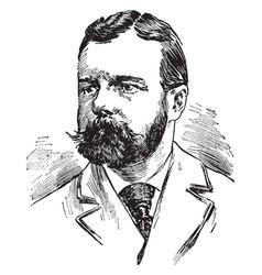 Henry cabot lodge vintage vector