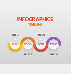 horizontal steps timeline infographics - can vector image