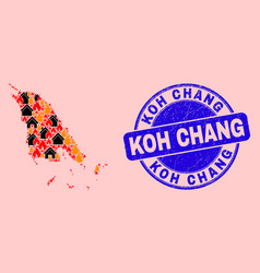 Koh chang map mosaic fire and properties and vector