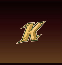 letter k game logo esport gaming vector image