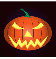 light pumpkin vector image