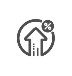loan percent growth icon discount sign vector image