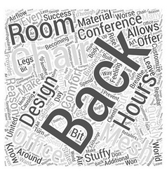 Mesh Back Office Chairs Word Cloud Concept vector