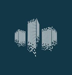 modern city skyline logo vector image