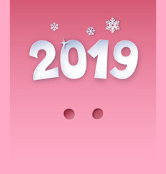 New year postcard with pig nose vector