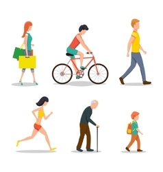 People on street vector image