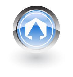 polygon arrow up icon logo vector image