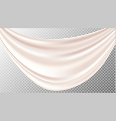 Realistic silk drapery vector