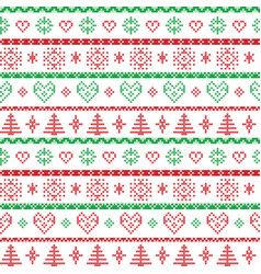 Red and green on the white background Nordic Chris vector
