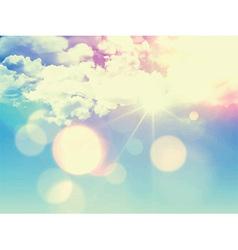 Retro sky background 1305 vector