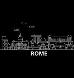 rome silhouette skyline italy - rome city vector image