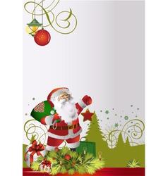 Santa text is vector