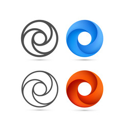 Set of abstract infinite loop template vector