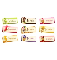 Set of banners with ice cream vector
