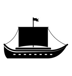 ship ancient icon simple black style vector image