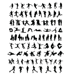 silhouettes of people 3 vector image