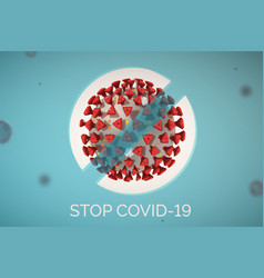 stop spread covid-19 concept sign black text and vector image