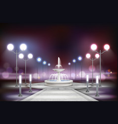 Street lights realistic composition vector