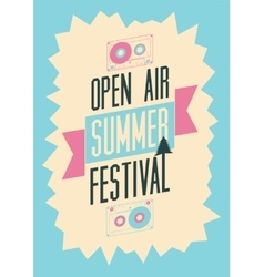 Summer festival open air typographic poster vector
