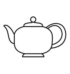teapot with handle icon outline style vector image