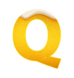 the alphabet in form lemonade or beer vector image