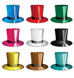 Top hats vector