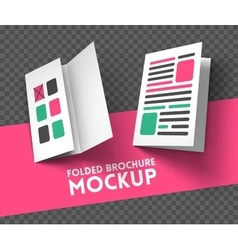Trifold mockup on transparent background vector