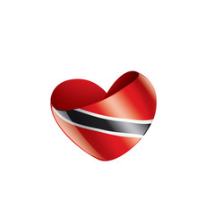 trinidad and tobago flag on a vector image