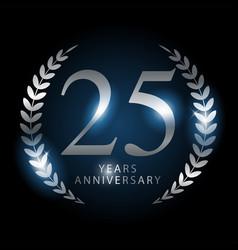 Twenty-five years anniversary vector