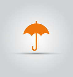 umbrella isolated colored icon vector image