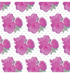Vintage Watercolor Pink Roses pattern vector