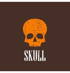 vintage with a skull vector image