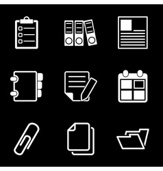 White Document Office Icons vector