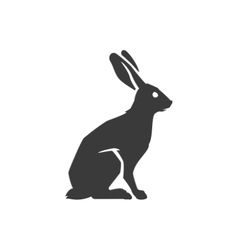Wild Rabbit Side View Isolated On White Background vector