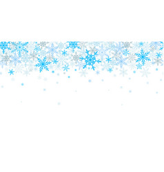 winter seamless background with flying snowflakes vector image