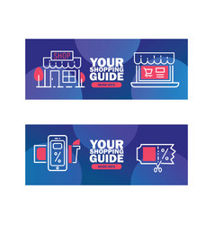 your shopping guide delivery discount services vector image