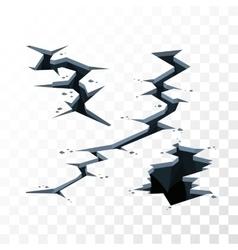 cracks elements vector image
