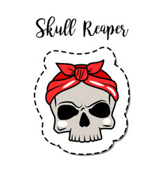 fashion patch element skull vector image vector image
