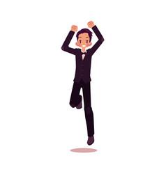 groom dancing happily isolated vector image