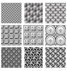 monochrome pattern set vector image