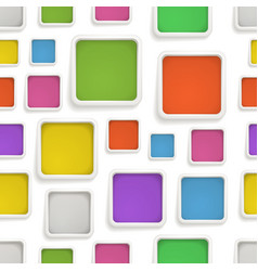 Abstract seamless background of color boxes vector image vector image