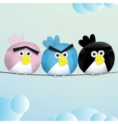 Birds Angry Sad espression vector image