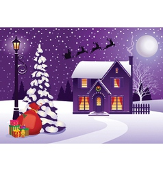 Christmas in Village vector image vector image
